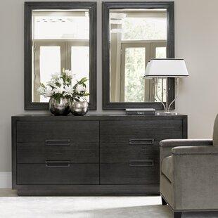 Lexington Carrera 6 Drawer Double Dresser with Mirror