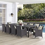 Brentwood Outdoor Patio 11 Piece Dining Set with Cushions