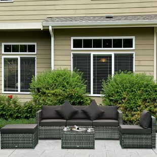 Buy Altaf 6 Piece Rattan Sectional Seating Group With Cushions By Latitude Run Today
