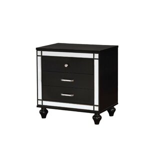 Read Reviews Segura 3 Drawer Nightstand by Mercer41