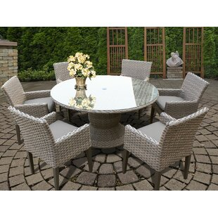 Medrano 7 Piece Outdoor Patio Dining Set with Cushion