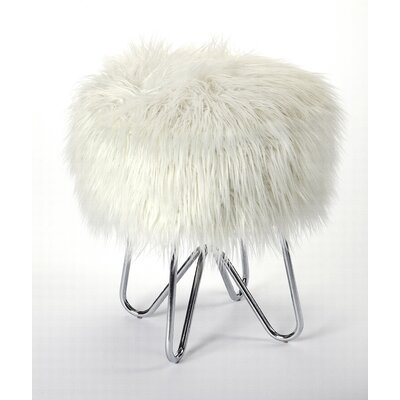 Everly Quinn Penrith Accent Stool Color: Silver