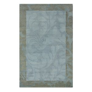 Utraula Hand-Tufted Blue Area Rug