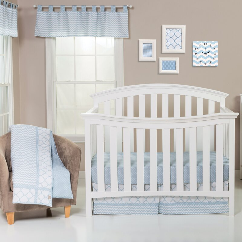 Trend Lab Blue Sky 3 Piece Crib Bedding Set Reviews Wayfair