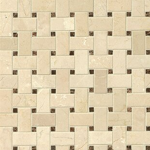 Basket Weave Marble Mosaic Tile In Belmond
