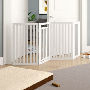 Gabriella Convertible Wooden Free Standing Dog Gate by Archie & Oscar