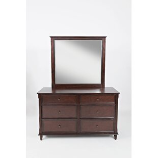Parkridge 6 Drawer Double Dresser with Mirror