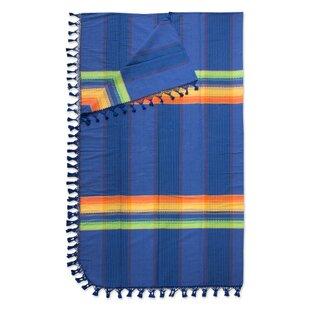 Millwood Pines Weare Dreamer Hand Woven Cotton King Bedspread