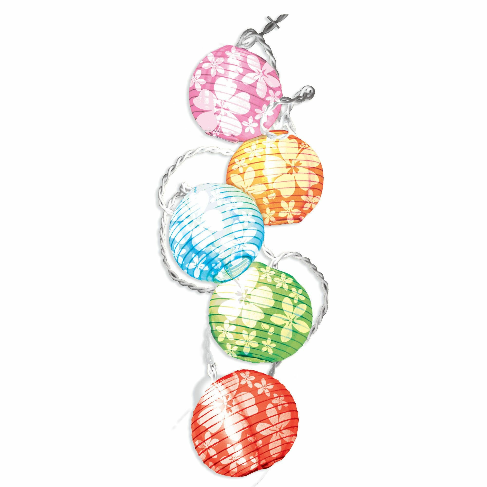 Amscan Summer Luau Hibiscus Print10 Light Led String Lighting Wayfair