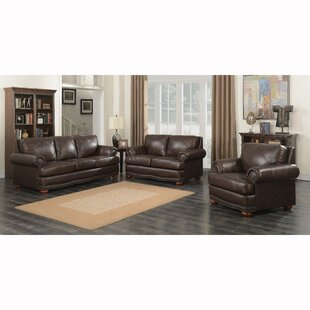 Best Reviews Wakerobin 3 Piece Leather Living Room Set by Canora Grey Reviews (2019) & Buyer's Guide