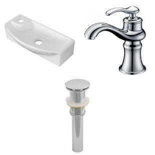 Ceramic 17.75 Bathroom Sink with Faucet Royal Purple Bath Kitchen