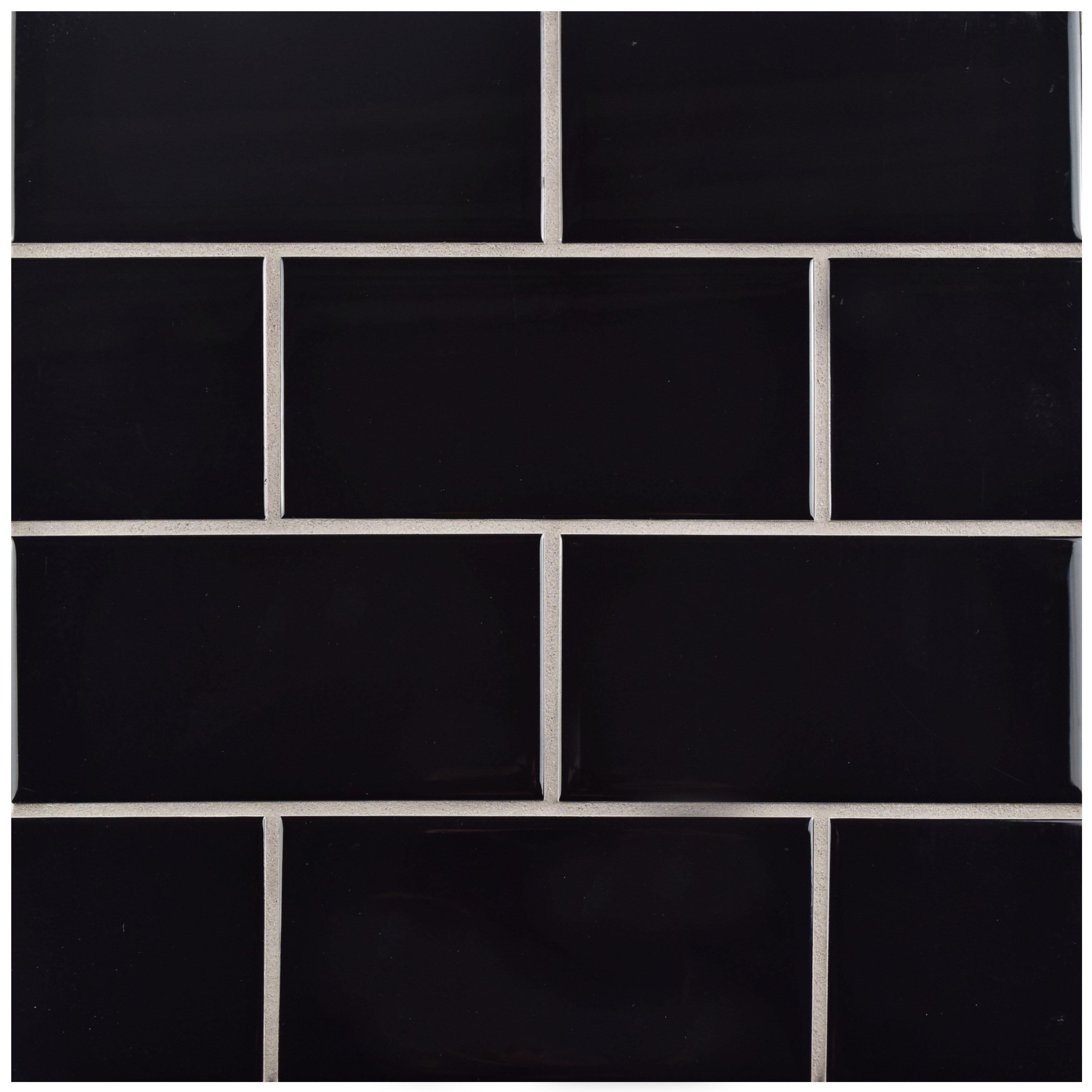 Elitetile Prospect 3 X 6 Ceramic Subway Tile In Black Reviews