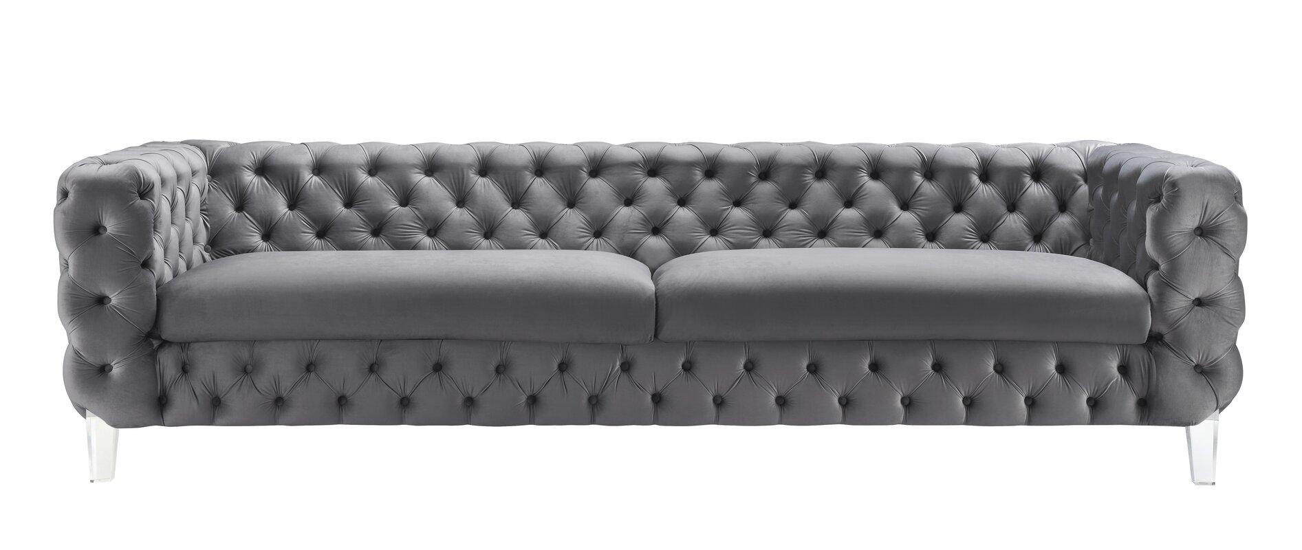 Lorenco Velvet Chesterfield Sofa