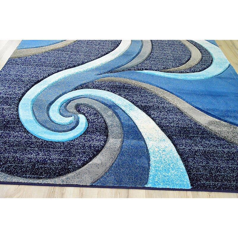 Modern Contemporary Abstract Ocean Blue