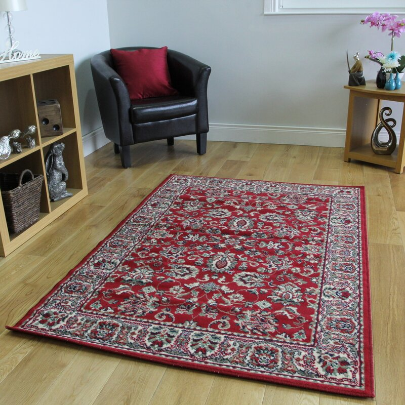 Marlow Home Co Durrant Red Rug