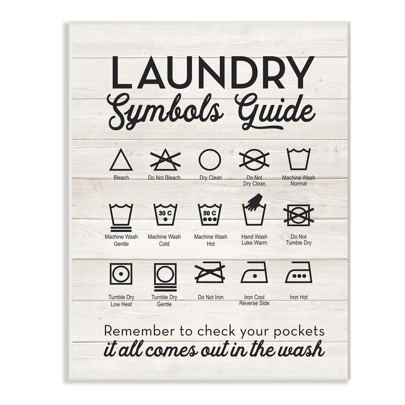 Start Doing'Laundry Symbols Typography' Noir Typography