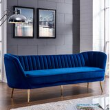 "Lilo Velvet 88"" Flared Arm Sofa"