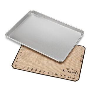 2 Piece Medium Baking Sheet and Mat Set