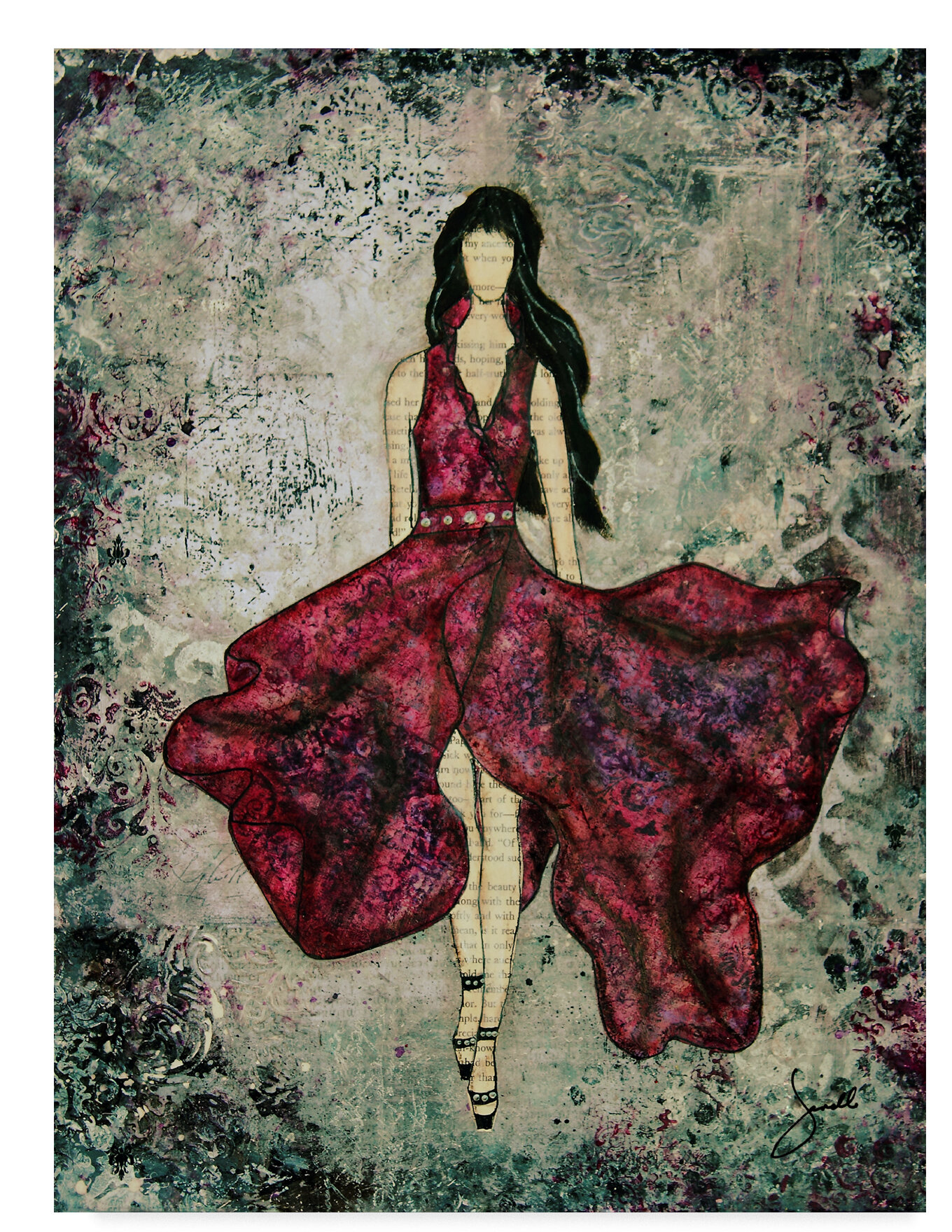 Trademark Art Fashionista Acrylic Painting Print On Wrapped Canvas Wayfair