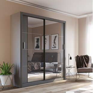 Tengan 2 Door Sliding Wardrobe With LED By Brayden Studio