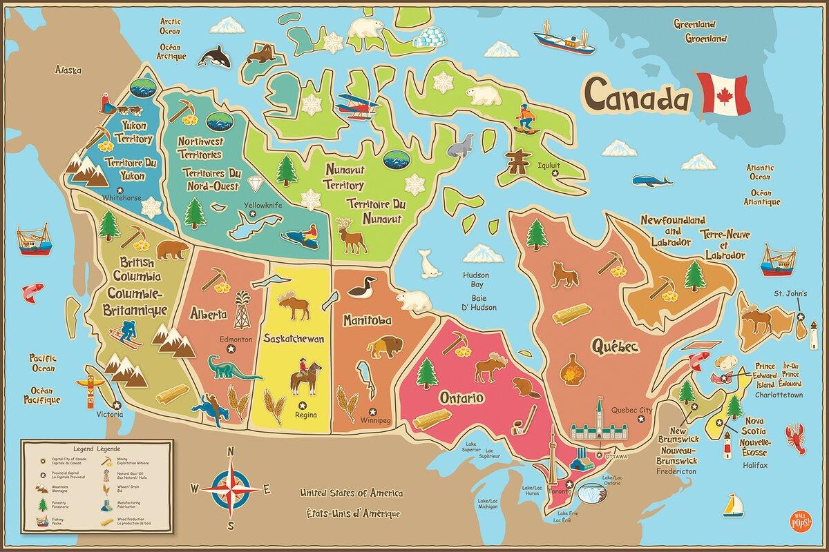 WallPops WallPops Kids Canada Map Wall Mural Wayfair : WallPopsKidsCanadaMapWallMural from www.wayfair.com size 1200 x 800 jpeg 240kB