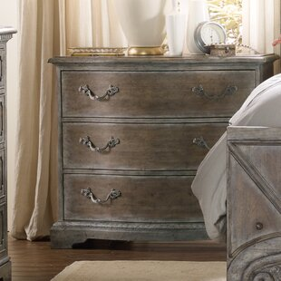 True Vintage 3 Drawer Nightstand by Hooker Furniture