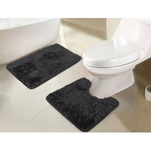 Efimenko Jasper Shaggy 2-Piece Bath Rug Set