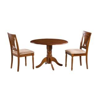 Hillcrest 3 Piece Drop Leaf Solid Wood Dining Set