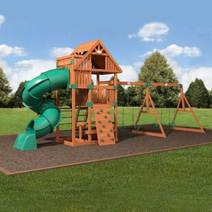 Backyard Discovery Excursion Cedar All Cedar Swing Set
