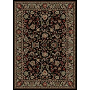 Persian Classics Oriental Mahal Black Area Rug by The Conestoga Trading Co.