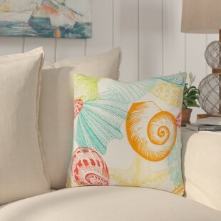 Huntington Sea Shell Outdoor Throw Pillow (Set of 4)