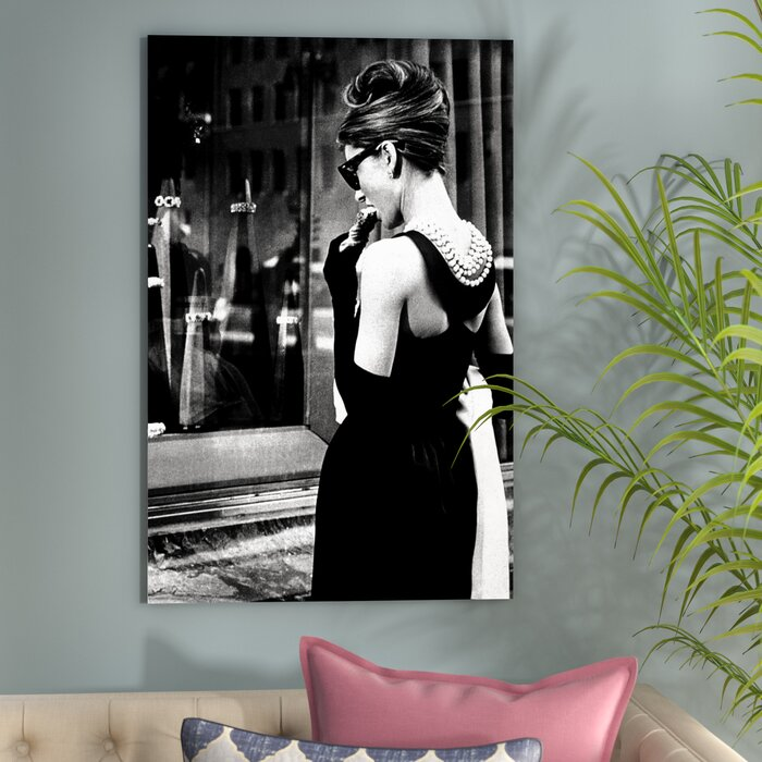 c6155d79d9b5 East Urban Home Radio Days 'Breakfast at Tiffany's Series: Audrey Hepburn  Window Shopping I' Photographic Print on Canvas & Reviews | Wayfair.ca