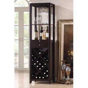 Latitude Run Trombley 28 Bottle Floor Wine Cabinet
