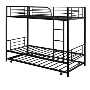 Mosinee Metal Twin over Twin Standard Bunk Bed with Trundle