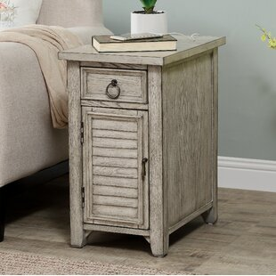 Fulks End Table with Storage by One Allium Way