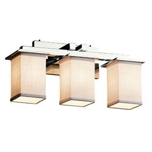 Latitude Run Red Hook Modern 3 Light LED Square w/ Flat Rim Vanity Light