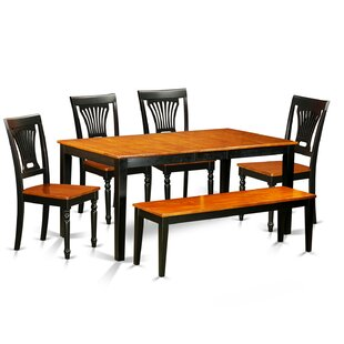 Pillar 6 Piece Rubberwood Dining Set by A..
