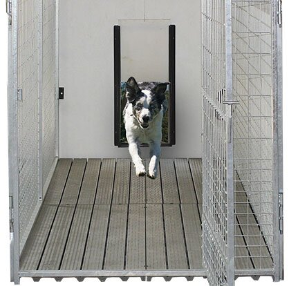 Yard Kennel Sliding Door System