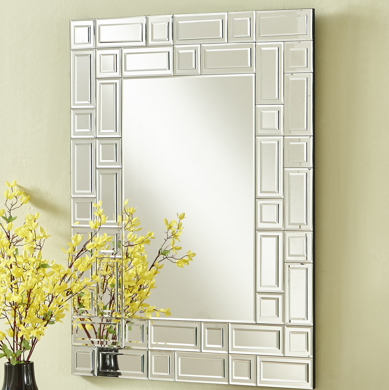 Mercer41 Contemporary Rectangle Accent Mirror Reviews Wayfair Ca