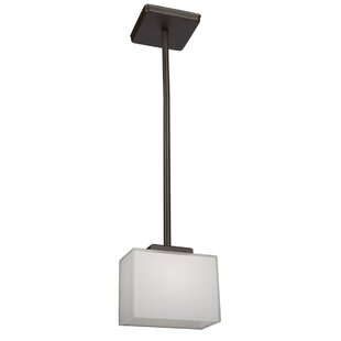 Kristi 1-Light Square/Rectangle Pendant by Latitude Run