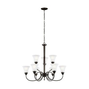 Darby Home Co Buren 9-Light Shaded Chandelier