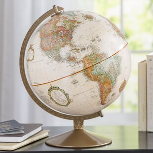 Globe accents youll love wayfair 12 traditional cardboard globe gumiabroncs Images