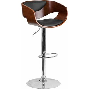 Crotty Adjustable Height Swivel Bar Stool by George Oliver Sale