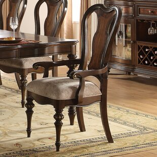 Wentzel Upholstered Wood Dining Chair (Set of 2) Astoria Grand