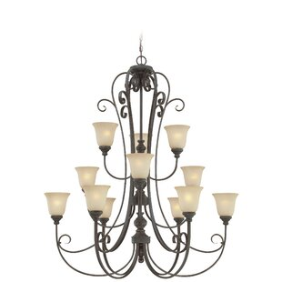 Darby Home Co Lynette 12-Light Shaded Chandelier