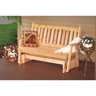 A&L Furniture Traditional Glider Bench
