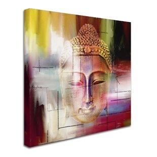 U0027Buddha Face 4u0027 Graphic Art Print On Wrapped Canvas