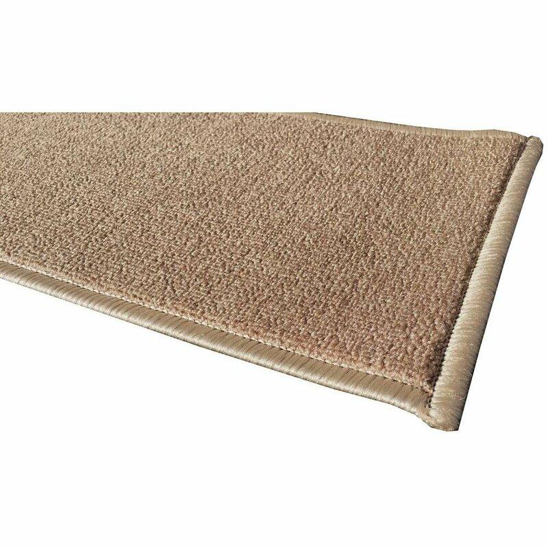 Escalier Skid Resistant Rubber Backing Non Slip Carpet Dark Beige Stair  Tread