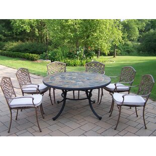 Stone Art 7 Piece Dining Set with Cushions by Oakland Living