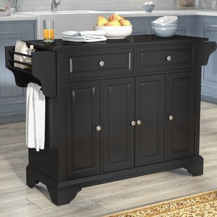 Hedon Kitchen Island with Granite Top Three Posts
